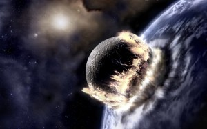 This is an artist's depiction of Planet X hitting something. Kind of like all those real artist's depictions of Big Foot.